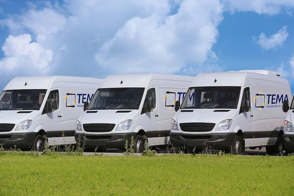 Auslieferungen von Waren - Tema Transport
