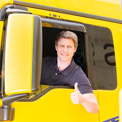 LKW Fahrer Tema Transport